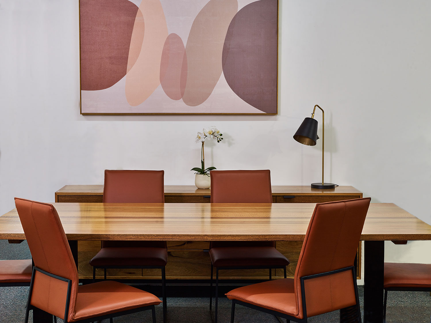 The Luca dining setting in Marri timber