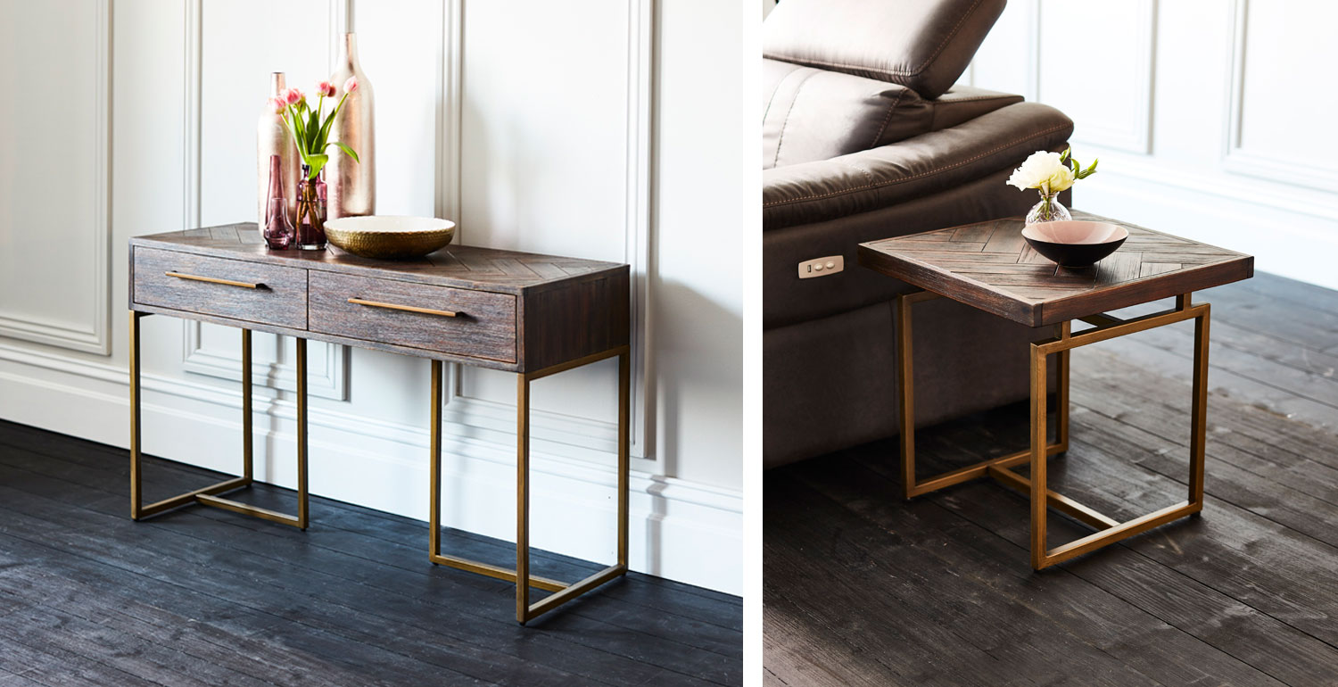 Roma console and lamp tables