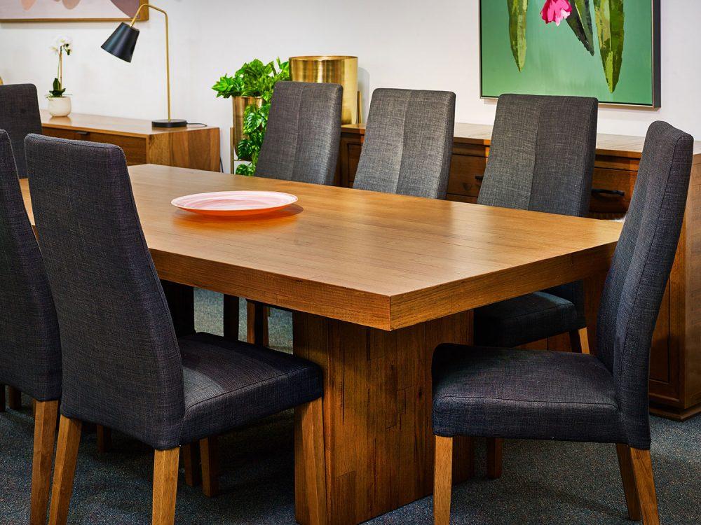 The Urban 9-piece laminated Tasmanian Oak dining suite